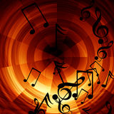Abstracte muzikale achtergrond Stock Fotografie