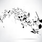 Abstracte muzikale achtergrond met nota's royalty-vrije illustratie