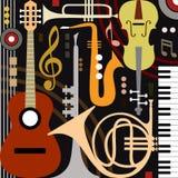 Abstracte muzikale instrumenten Royalty-vrije Stock Afbeeldingen