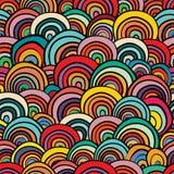 Abstracte naadloze achtergrond die uit kleurrijke geometrische sh bestaan Stock Foto