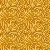 Abstracte naadloze achtergrond Gouden krommen met schaduwen vector illustratie
