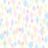 Abstracte naadloze achtergrond met kleurrijke ruit Witte achtergrond Stock Afbeelding