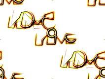 Abstracte naadloze achtergrond op witte geschreven liefde Stock Foto