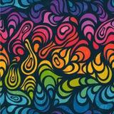 Abstracte naadloze achtergrond in regenboogkleuren Stock Foto