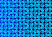 Abstracte Naadloze Blauwe Cirkels op Donkere Achtergrond royalty-vrije illustratie