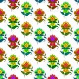 Abstracte naadloze bloem, Royalty-vrije Stock Afbeeldingen