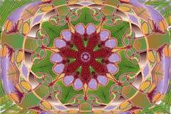 Abstracte naadloze bloemenachtergrond met bloemen royalty-vrije illustratie