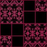 Abstracte naadloze de textuurachtergrond van het kant bloemenpatroon Royalty-vrije Stock Fotografie