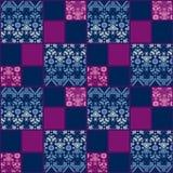 Abstracte naadloze de textuurachtergrond van het kant bloemenpatroon Stock Foto's