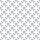 Abstracte Naadloze Decoratieve Geometrische Lichtgrijze & Witte Patroonachtergrond Royalty-vrije Stock Afbeelding
