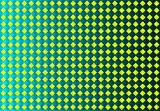 Abstracte Naadloze Gele Diamanten op Groene Achtergrond stock illustratie