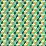 Abstracte naadloze geometrische achtergrond met kubussen Stock Foto