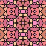 Abstracte naadloze geometrische patronen Naadloze caleidoscoop Royalty-vrije Stock Foto's