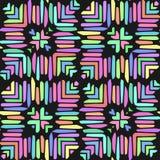 Abstracte naadloze geometrische patronen Naadloze caleidoscoop Stock Foto