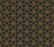 Abstracte naadloze geometrische patroonachtergrond met lijnen, oosterse ornamentenpatronen stock illustratie