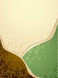 Abstracte Naadloze groen patroon of achtergrond en   Royalty-vrije Stock Afbeeldingen