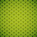 Abstracte naadloze groene achtergrond met cirkels. Stock Afbeelding