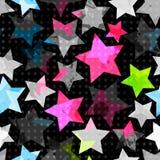 Abstracte naadloze grungesterren Royalty-vrije Stock Afbeelding