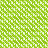 Abstracte naadloze het patroonachtergrond van het dollarteken Royalty-vrije Stock Foto