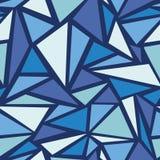 Abstracte naadloze het patroonachtergrond van ijschrystals Stock Afbeelding
