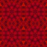 Abstracte naadloze hexagon patroon rode zwarte tekening Stock Foto