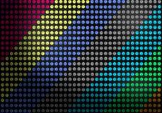 Abstracte Naadloze Kleurrijke Punten op Donkere Achtergrond royalty-vrije illustratie
