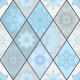 Abstracte naadloze lapwerktegel met bloemenornament Arabisch of stock afbeeldingen