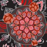 Abstracte naadloze patcworktegel met bloemenornament Arabisch of o stock illustratie
