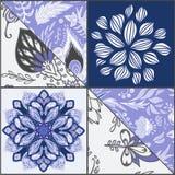 Abstracte naadloze patcworktegel met bloemenornament Arabisch of o vector illustratie