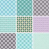 Abstracte naadloze patronen Stock Afbeelding
