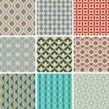 Abstracte naadloze patronen Royalty-vrije Stock Afbeelding
