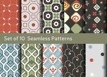 Abstracte naadloze patronen Geometrische en siermotieven Royalty-vrije Stock Fotografie