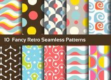 Abstracte naadloze patronen Geometrische en siermotieven Stock Foto's