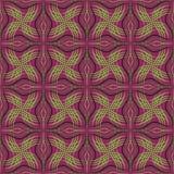 Abstracte naadloze patroon purpere groen Stock Fotografie
