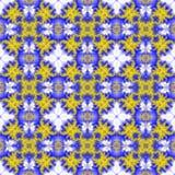Abstracte naadloze patroonachtergrond Gele Bloem Stock Fotografie