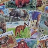 Abstracte naadloze patroonachtergrond Postzegels Vietnam Royalty-vrije Stock Afbeeldingen