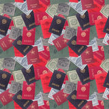 Abstracte naadloze patroonachtergrond Sovjetdocument Stock Foto's