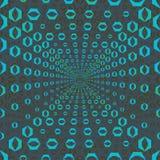 Abstracte naadloze patroonillustratie van hexagonale optische illusietegels stock illustratie