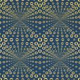 Abstracte naadloze patroonillustratie van hexagonale optische illusietegels royalty-vrije illustratie