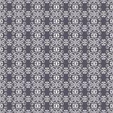 Abstracte naadloze patroonillustratie van kanten bladeren, bloemen en wervelingen in geometrische lay-out vector illustratie