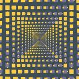 Abstracte naadloze patroonillustratie van rechthoekige optische illisiontegels royalty-vrije illustratie
