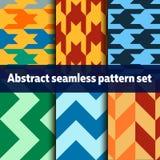 Abstracte naadloze patroonreeks Stock Fotografie