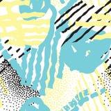 Abstracte naadloze patroonvlekken, lijnen, puntenachtergrond Stock Fotografie