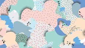 Abstracte naadloze patroonvlekken, punten geschilderde achtergrond Royalty-vrije Stock Fotografie