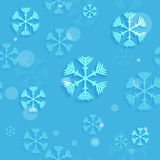 Abstracte naadloze sneeuwvlokken Stock Afbeelding