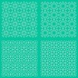 Abstracte naadloze traditionele Islamitische patronen Royalty-vrije Stock Afbeeldingen