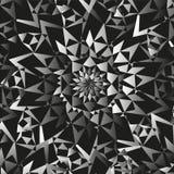 Abstracte Naadloze Witte Zwarte Patroon Sierachtergrond Royalty-vrije Stock Fotografie