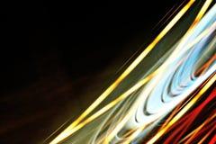 Abstracte nacht lichte achtergrond in beweging royalty-vrije stock foto
