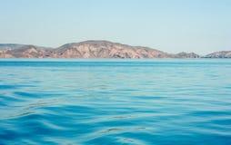 Abstracte natuurlijke blauwe zeewaterachtergrond royalty-vrije stock foto's