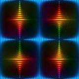 Abstracte neon glanzende vectorachtergrond Royalty-vrije Stock Foto's